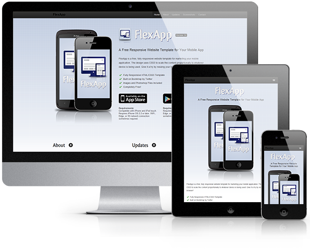 FlexApp - Responsive Website Template For Your Mobile App