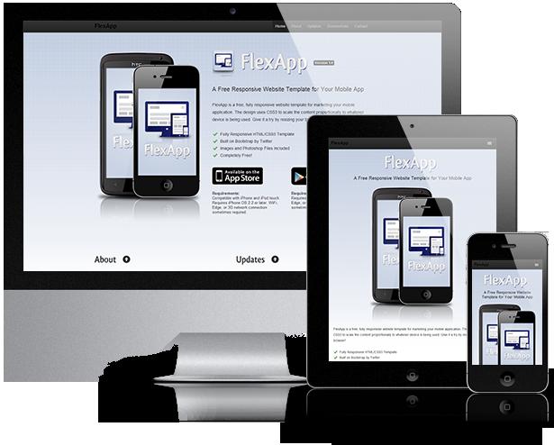 Flexapp Responsive Website Template For Your Mobile App
